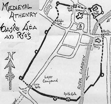 Medieval Map of Athenry